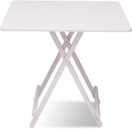 BFQY Table Pliante, Petite Table Blanche de ménage Simple Petite Table Portable Pliante dortoir carré de Cabine