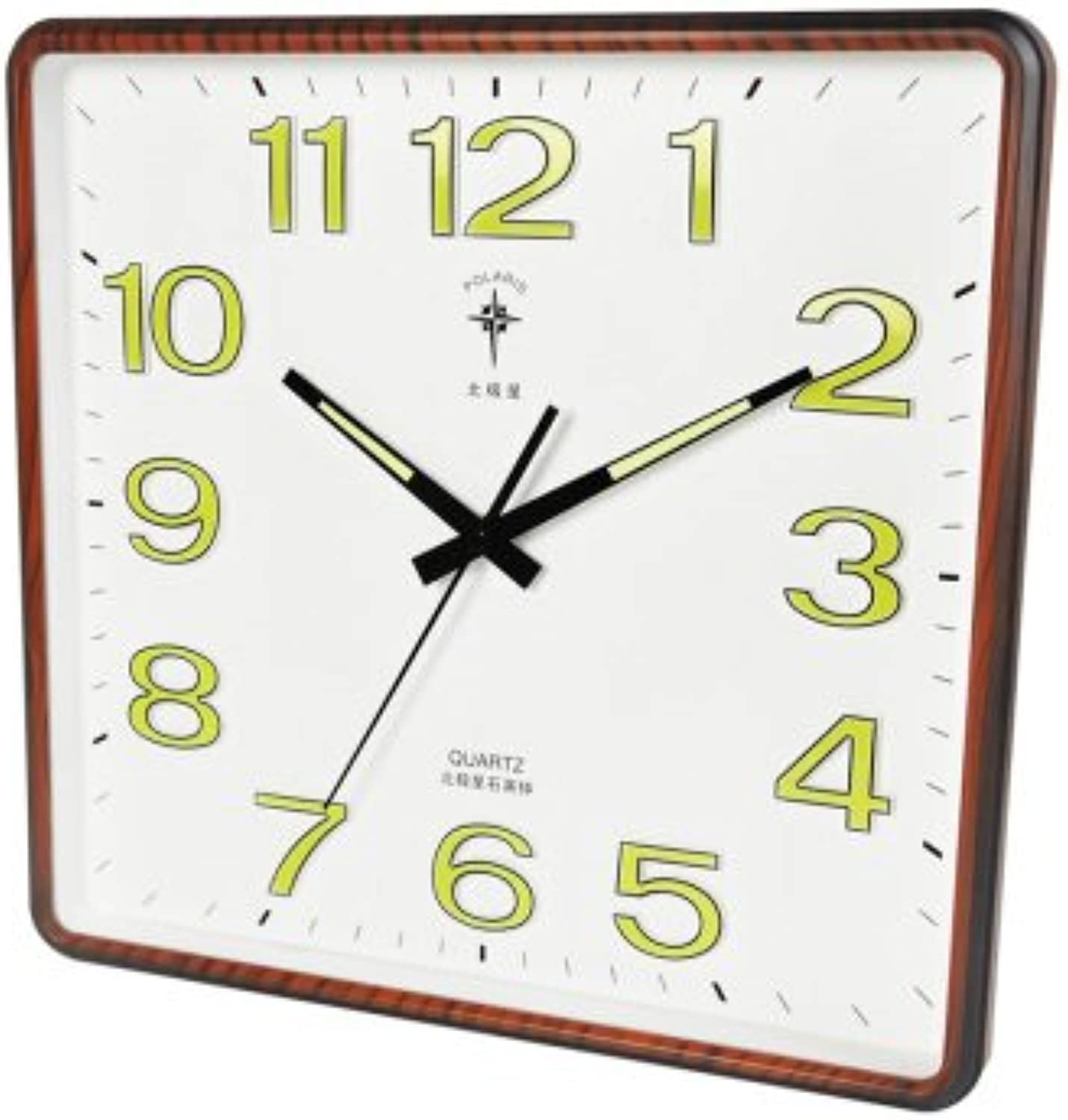 Znzbzt Simple Creative Mute Wall Clock The Silence in The Living Room Wall Clock for Clock, The Modern 000 Bedroom Night Light Quartz Clock Fashion Wall Table,6823 a nor
