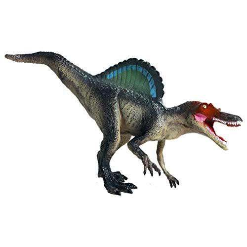 FLORMOON Juego de Dinosaurios - Realista Spinosaurus Dinosaur- Figuras de Dinosaurio de plástico - Decoración de Pasteles de cumpleaños Juguete Escolar para niños pequeños(Gris Oscuro)