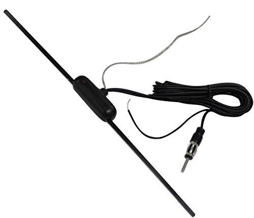 AERZETIX: Antenne amplifiée intérieure autoadhésive pour Auto autoradio Voiture C16625