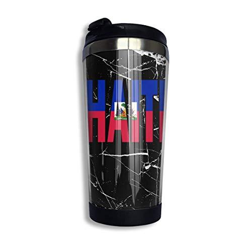 Haiti Flag Kaffeetasse mit Deckel für Tee Kaffee Reisebecher Tasse Edelstahl 400 ml
