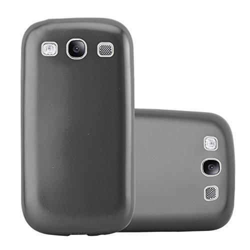 Cadorabo Funda para Samsung Galaxy S3 / S3 Neo en Metallic Gris – Cubierta Proteccíon de Silicona TPU Delgada e Flexible con Antichoque – Gel Case Cover Carcasa Ligera