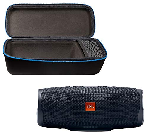 JBL Charge 4 Portable Waterproof Wireless Bluetooth Speaker Bundle with divvi! Charge 4 Protective Hardshell Case - Black