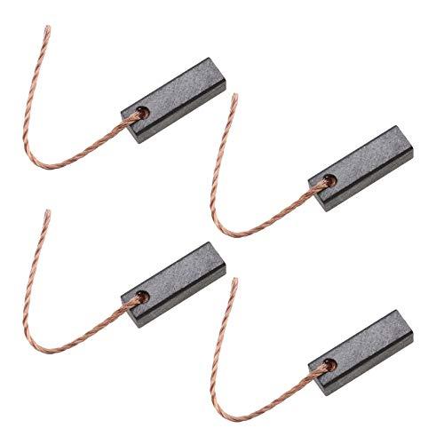 Create idea - 4 escobillas de carbón para motor eléctrico 5 x 5 x 16 mm con cable de cobre 12-24 V para bomba de vehículo limpiaparabrisas, ventilador pulsador