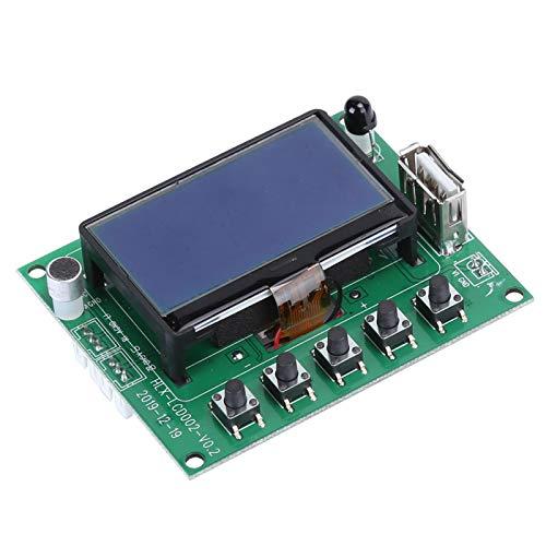 Exliy Decodificador Bluetooth, Módulo de Placa decodificadora MP3 / WMA/WAV, Placa decodificadora con Cables de 4 Pines Soporte Pantalla LCD de Letras