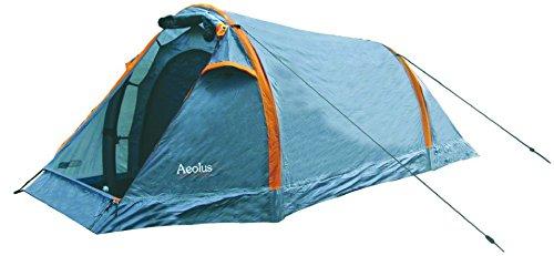 HIGHLANDER Aeolus Tente, Mixte, Aeolus, Gris/Orange, 4 Personnes