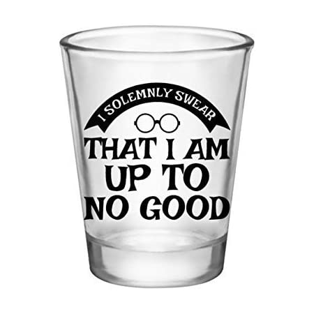 Inspired by Harry Potter Shot Glass-I Solemnly Swear-Mischief Managed