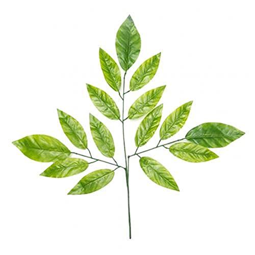 Künstliche Pflanze 12 stücke künstliche Pflanze Banyan ahorn Baum blätter Home Party Garten DIY Dekoration lebendige Farbe künstlich künstlich dauerhaft (Color : Green Mango Leaves)