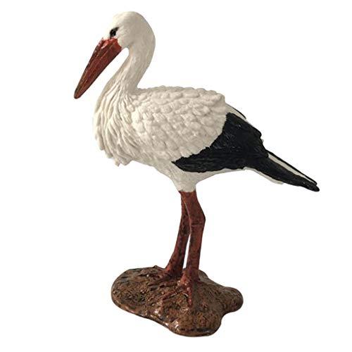Fenteer Animaux Réaliste Sculptures Jouet Figurine Oiseau Micro Paysage - Grue