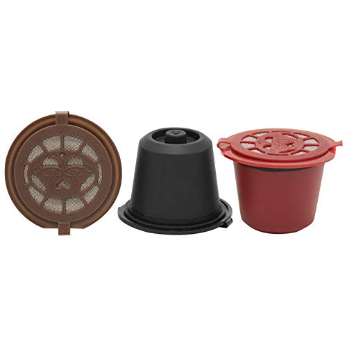 Foru-1 Nachfüllbarer wiederverwendbarer Kaffeekapsel-Filter für Nespresso-Kaffeemaschinen, 3 Stück, Mehrfarbig