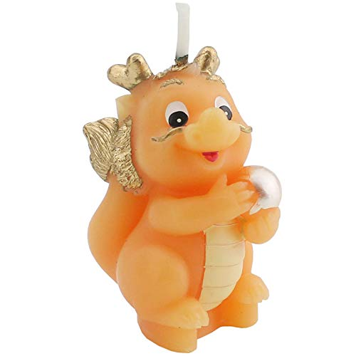 TIHOOD Cute Cartoon Chinese Dragon Birthday Candle, Smokeless Cake Candles Home-Made Cake Topper, Great Decoration for Home Party Children's Day