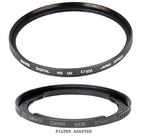 Filter Ring Adapter for Canon PowerShot SX70 SX60 SX50 SX40 SX540 SX530 SX520 HS Bower 67mm UV Lens Filter SX30 SX20 SX10 is