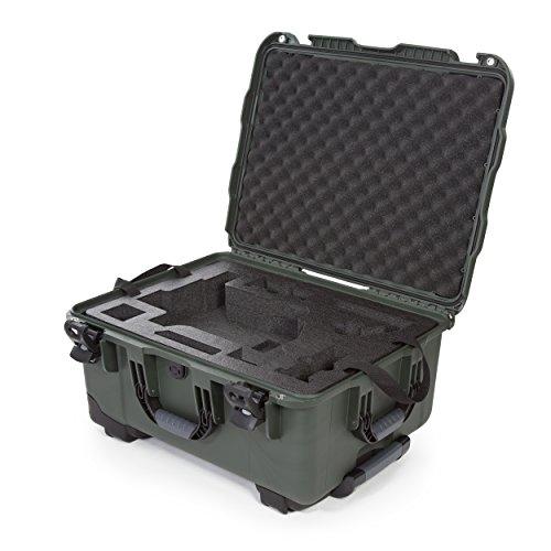 Nanuk Ronin M - Custodia rigida impermeabile con ruote e inserto in schiuma personalizzata per sistemi stabilizzatore cardanico DJI Ronin M - Olive