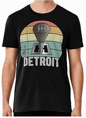 R-E-T-R-O Detroit Manual Stick Gear Shift Car P-R-E-M-I-U-M Short Sleeve T Shirt, Hoodie For Men Women Love Shirt