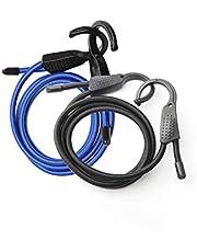 洗濯ひも,引き込み式ロープ 多機能使用 柔軟性に満ちている 車の荷物ロープ フックタイプ(2PCS)