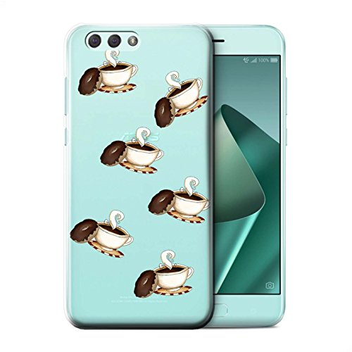 Stuff4® Phone Case/Cover/Skin/ASUS-CC/Pieces of Food Collection Asus Zenfone 4 ZE554KL Koffie/koppen