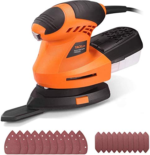 Sander, 200W 12000RPM Detail Sander with 360° Rotatable...