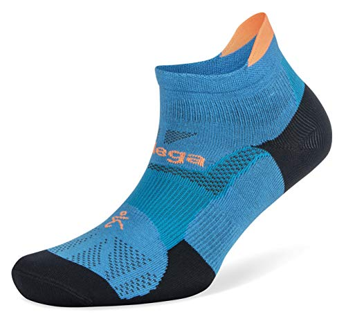 Balega Hidden Dry Moisture-Wicking Socks for Men and Women (1 Pair),Bright Turquoise/Navy, Medium