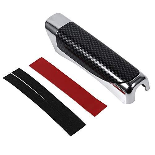 Auto Handbremse Hochwertige Schutzvorrichtung Chrom dekorative Abdeckung, glattes Holz und Kohlefaser-Stil(Schwarze Kohlefaser)