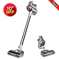 【Ultra Lightweight & Cordless Convenience】: Only 3.1lb weight in the anti-corrosion main machine which can be equipped with different attachments for different tasks. Cordless vacuum helps you get rid of hassle of a cord. With an ergonomic handle, pe...