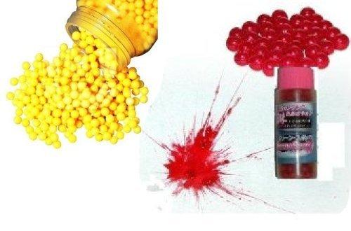 Nerd Clear Softair Kugel Set 2000 Kugeln Gelb und 500 Softair Farbkugeln Rot 6 mm BB Softair-Gewehr Softair-Pistole Kinder-Spielzeug