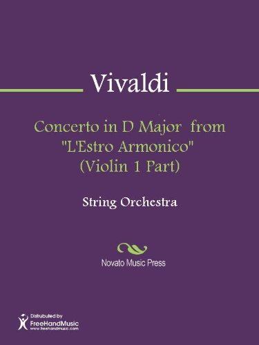"Concerto in D Major from ""L'Estro Armonico"" (Violin 1 Part) (English Edition)"