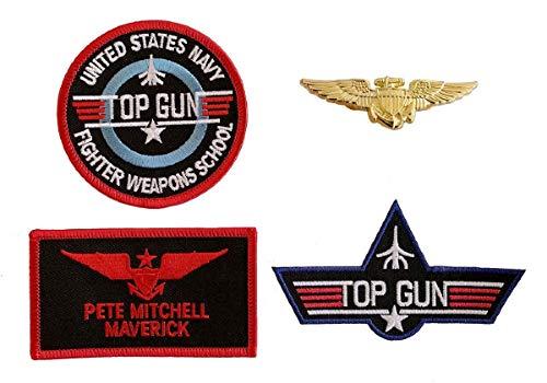 Pete Mitchell Maverick Top Gun Patches Set