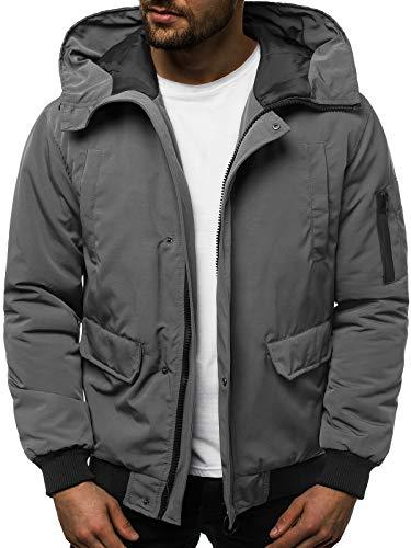 OZONEE heren winterjas jas winter kleurvarianten warm bomberjack gewatteerde jas wintermantel kunstbont donsjack lichte outdoor buffer jas gewatteerd JS / 2019005