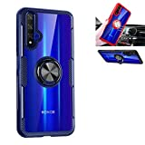 Beovtk Huawei Honor 20 Case,360°Rotating Ring Kickstand Protective Case,TPU PC Shock Absorption Double Protection Cover Compatible with [Magnetic Car Mount] for Huawei Nova 5T Case(Blue/Black)