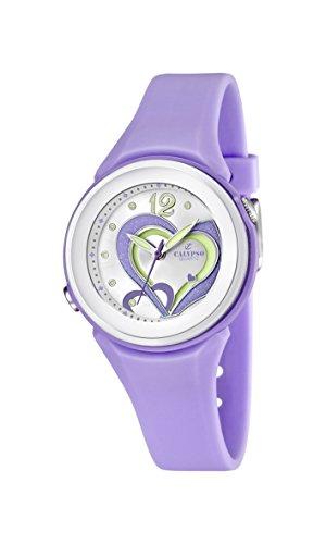 Calypso-Orologio da donna al quarzo con Display analogico e cinturino in plastica, colore: viola/k5576 4