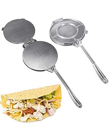 utilizzata per fare tortillas di mais con manico pieghevole pane Pressa per tortilla in acciaio inox pizza