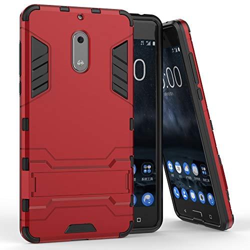 COOVY® Funda para Nokia 6 de plástico y Silicona TPU, extr