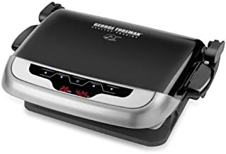 George Foreman GRP4EWS Platinum Evolve Grill with 2 Grill Plates and 2 Waffle Plates