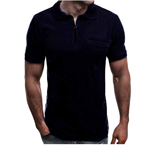 Heren Poloshirt met korte mouwen Zomer Basic Tops Tee Casual T-Shirts S-XXXL