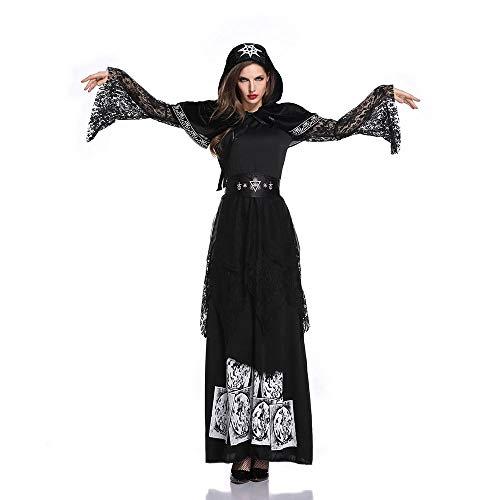 Edelehu Vampiro Disfraz De Halloween Túnica Capa con Capucha Capa con Capucha Capa Medieval Equipo De Fiesta con Capucha,L