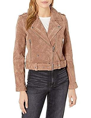 [BLANKNYC] Women's Suede Moto Jacket