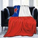 Communistsocialist Chile - Manta de franela mullida, cómoda, cálida, ligera, suave, para sofá, dormitorio, sofá
