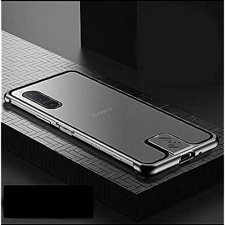 Sony Xperia 5 II 5G ケース アルミ バンパー 航空宇宙アルミ + 背面半透明のデザイン 強化マット質感 [ 耐衝撃 + 最軽量 ] 落下保護 おしゃれ 格好いい 日本版 docomo SO-52A au SOG02 エクスペリア5 ii ケース 携帯カバー (Xperia 5 II, ブラック)
