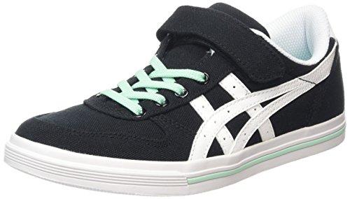 Asics Aaron Ps Jungen Sneaker, Nero (Black/White 9001), 34.5 EU / 1.5 UK