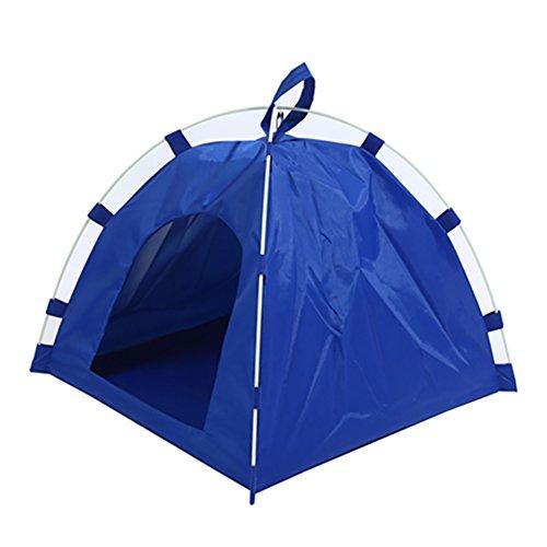 Demiawaking, tenda portatile da esterno per animali domestici, tenda lavabile e pieghevole, parasole da campeggio, resistente e impermeabile, per i tuoi amati animali, Blue, 40cm x 40cm x 35cm