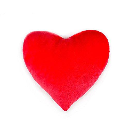 sunyou Heart Cushion, Soft Heart Shape Pillow Gift for Friends/Children Home Decoration (Red)