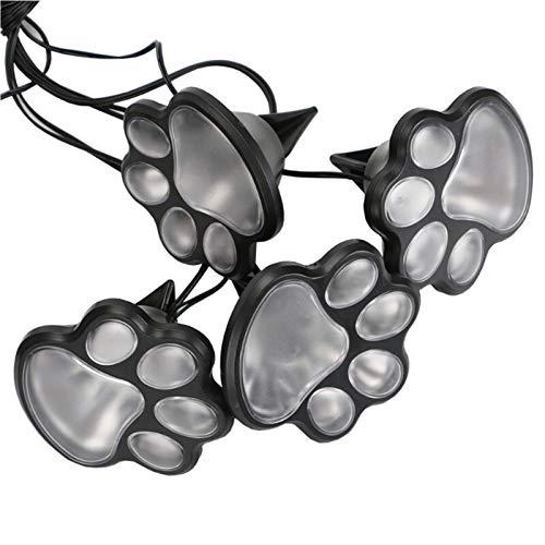 4 solar dog animal solar lamp paw print Lights garden statue lantern LED path 3inch light lamp outdoor (Emitting Color : Warm white)