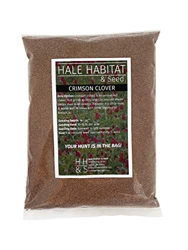Hale Habitat & Seed, Crimson Clover, 5 lbs, Deer and Wildlife Food Plot Seed, Annual