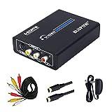 BLUPOW コンポジット/S端子 to HDMI 変換器 1080P対応 Composite 3RCA AV/S-Video to HDMI コンバーター ビデオ変換器 コンポジット hdmi 変換 アナログ デジタル 変換器 rca hdmi 変換 s端子 hdmi 変換 hdmiコンバーター hdmi変換 日本語マニュアル付き VA504