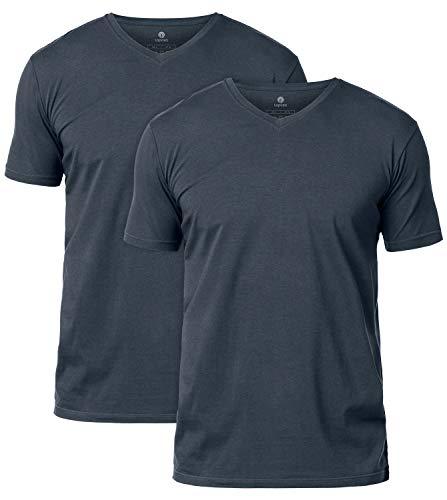 LAPASA Pack de 2 Camisetas Hombre de Algodón ELS Manga Corta Camiseta Interior M05/M06