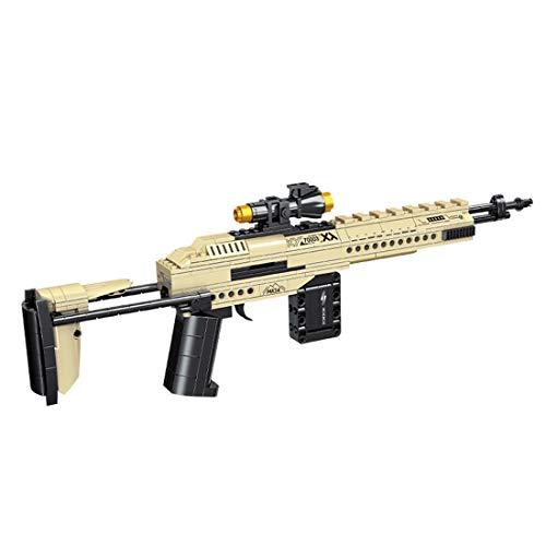 Tewerfitisme 400 pezzi Tecnica Military Shooting Blaster Piccole particelle DIY modellino di mattoni da costruzione, Military Series giocattolo compatibile con Lego