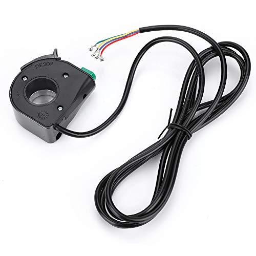 Interruptor de la lámpara de Bicicleta eléctrica Negra, PVC Plastic Hecho 1.2m Calidad Material de plástico Motoradora Control de Manillar