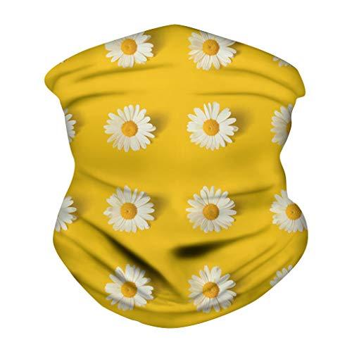 Andouy Schlauchschal Multifunktionstuch Sommer Kopftuch Atmungsakt Bandanas Dünn Motorrad Mundschutz Halstuch mit Muster für Damen und Herren(25X48CM.E)