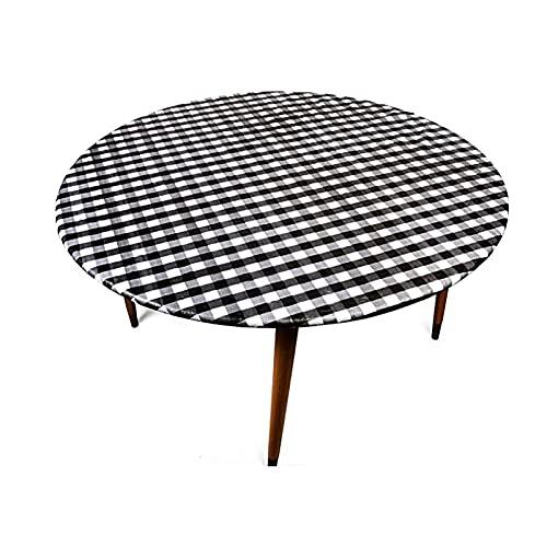 Diseño colorista puro Mesa redonda de tela a prueba de aceite e impermeable Bordado Popular Mesa de mesa Mesa de mesa Mesa de comedor redonda Home Banquete Restaurantes, banquetes ( Color : Sliver )
