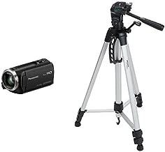 Panasonic HC-V180K Full HD Camcorder with 50x Stabilized Optical Zoom with AmazonBasics 60-Inch Lightweight Tripod